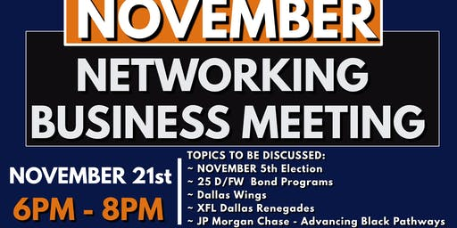 Arlington Black Chamber November Networking Business Meeting