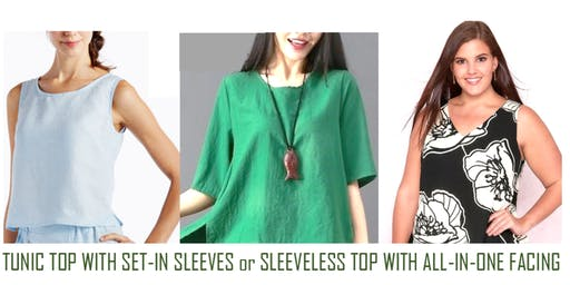 Sew a Tunic Top with Sleeves or a Sleeveless Top