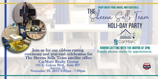 Sheena Sells Team Ribbon Cutting & Holi-Day Party