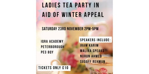 Ladies Tea Party in Aid of Winter Appeal
