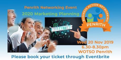 Business Action Networking Penrith - 2020 Marketing Planning tickets