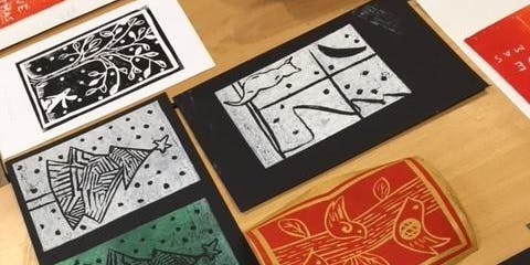 """Lino Printing for Beginners"" (Christmas theme)"