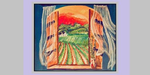 "Art Unplugged's ""Vision Vineyards"" Paint Night at Saude Creek!"