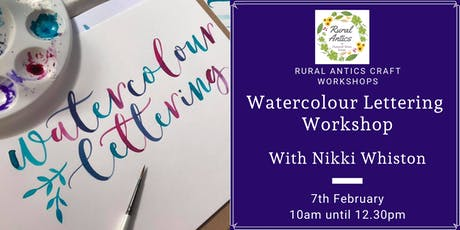 Watercolour Calligraphy Workshop tickets