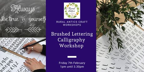 Brushed Lettering Calligraphy Workshop tickets