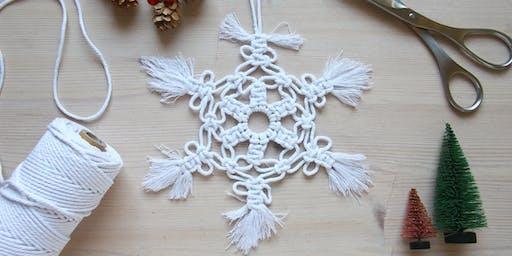 Macrame Snowflake Christmas Decoration Workshop