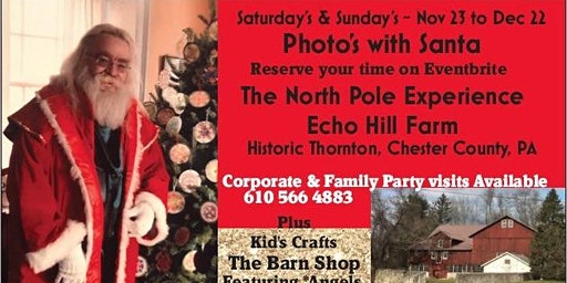 Photo's with Santa at Echo Hill Farm - Reserved Package