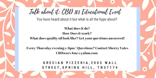 Talk About It: CBD 101 Educational Event