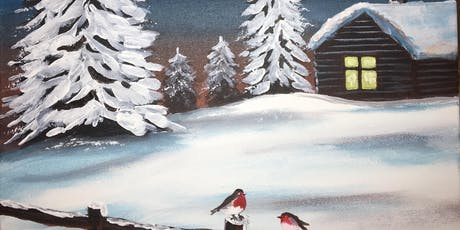 Christmas Paint Party Event 'Winter Hideaway' @ The Rose & Crown, OUNDLE tickets