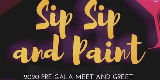 2020 Pre-Gala Meet and Greet Sip Sip & Paint
