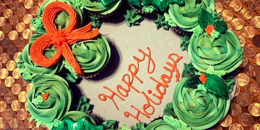 Craft & Sip - Christmas Cupcake Wreath