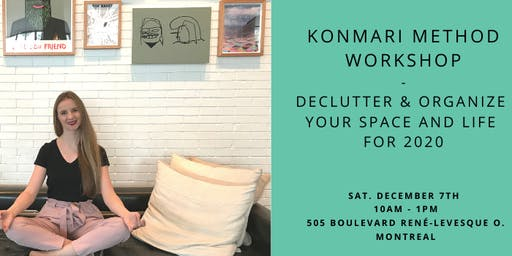 KonMari Method Workshop - Declutter & Organize your Space and Life for 2020