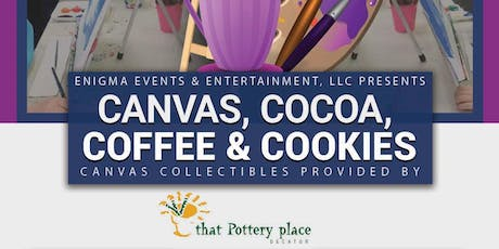 Canvas, Coffee, Cocoa and Cookies - Family style canvas painting tickets