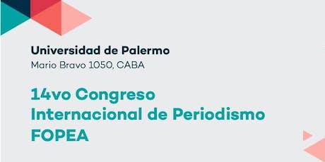 14vo Congreso Internacional de Periodismo FOPEA entradas