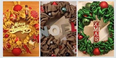 Christmas Ribbon Wreath Making Workshop 2