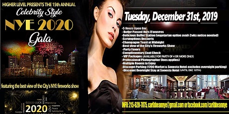 """15th Annual """"Celebrity Style"""" New Year's Eve Fireworks Gala tickets"""