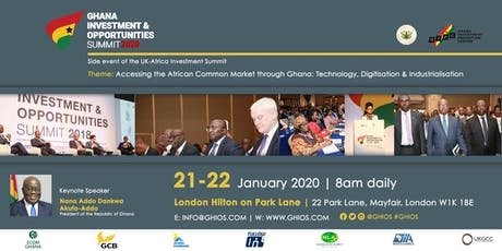 Ghana Investment & Opportunities Summit 2020 tickets