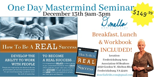 How To Be A REAL Success Seminar