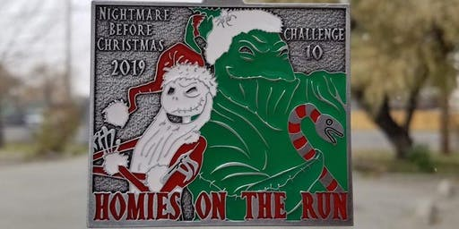Homies on the Run Challenge 10, Nightmare before Christmas 4.5 & 3.1 miles