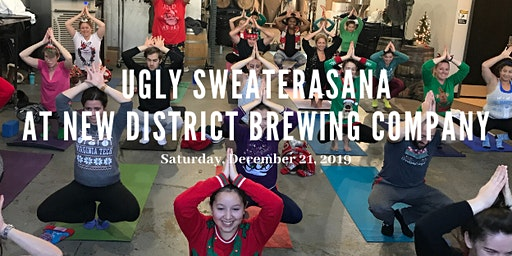 Ugly Sweaterasana at New District Brewing