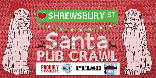 The Shrewsbury Street Santa Pub Crawl