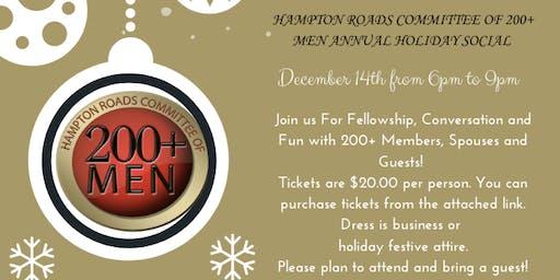 Hampton Roads Committee of 200+ Men: Holiday Social