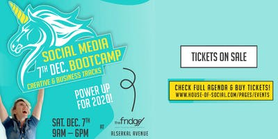 1 Day Social Media Bootcamp - 7th Dec.Creative & Business Tracks