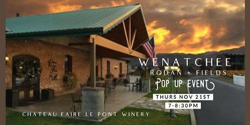 Wenatchee Rodan + Fields Pop Up event featuring Oliver Dibblee