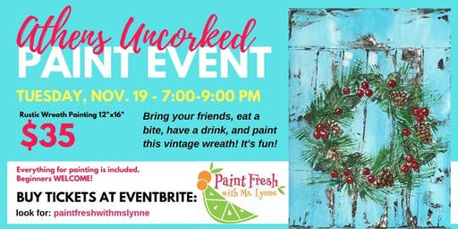 Athens Uncorked Paint Event