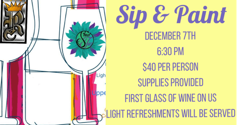 Sip & Paint - Fun for Everyone!