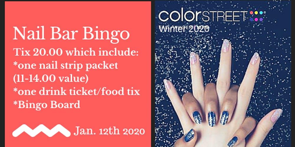 Color Street Winter 2020.Nail Bar Bingo 2020