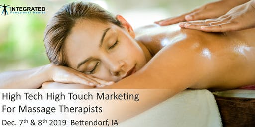 High Tech High Touch Marketing for Massage Therapists