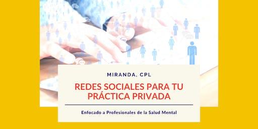 Redes Sociales para Tu Práctica Privada