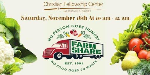 Christian Fellowship Center hosts FarmShare Free Food Distribution