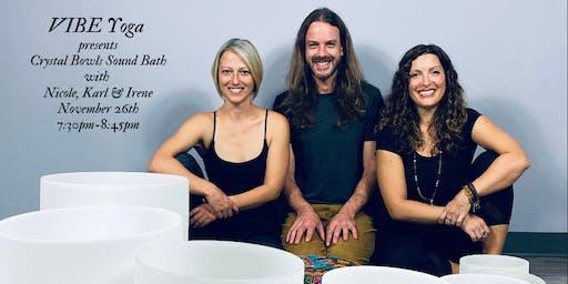 Crystal Bowls Restorative Sound Bath Yoga Class