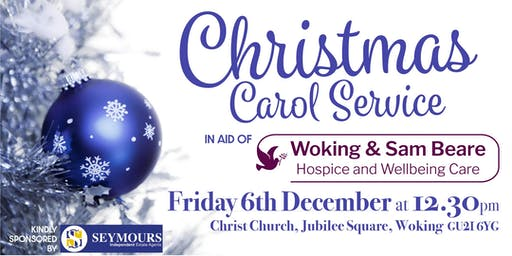 Carol Service in aid of Woking & Sam Beare Hospice and Wellbeing Care
