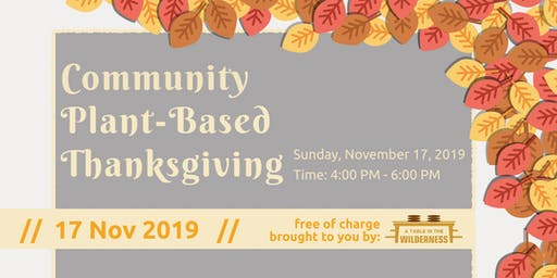 Community Plant-Based Thanksgiving