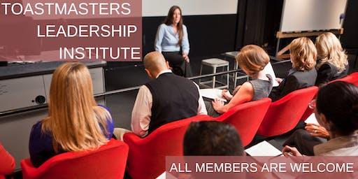Toastmasters Leadership Institute (TLI) Cincinnati December 7 2019