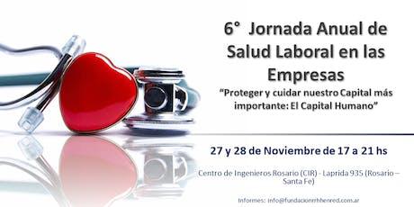 6°  Jornada Anual de Salud Laboral - Rosario 2019 entradas