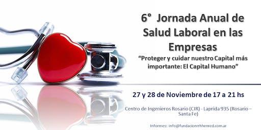 6°  Jornada Anual de Salud Laboral - Rosario 2019