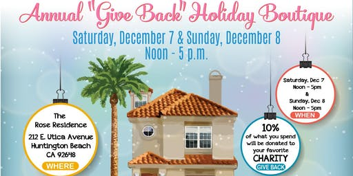 """Annual """"Give Back"""" Holiday Boutique"""