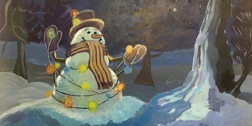 """Pour & Paint """"SNOWMAN"""""""