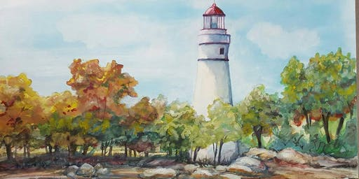 Watercolors with Robin: The Shore of Marblehead