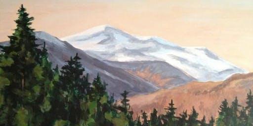 Sip & Paint Alpine Glow on Mount Washington