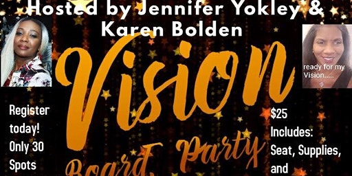 You Can't see it, Until you see it.   2020 Vision Board Party