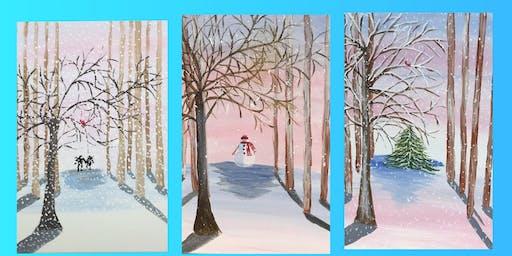 "Adult Open Paint (18yrs+) ""Winter Walk"""