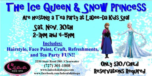 Frozen Themed Tea Party - 4pm Seating