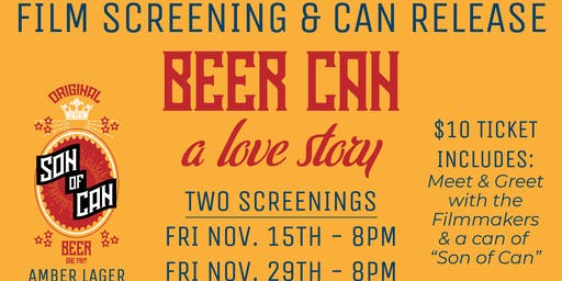 Beer Can: a love story film screening and can release