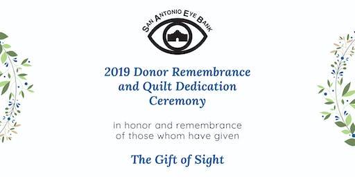 2019 SAEyeBank Donor Remembrance & Quilt Dedication Ceremony