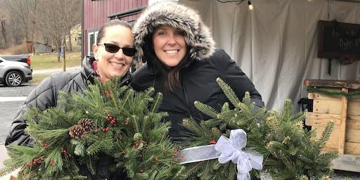 Christmas Wreath & Sip